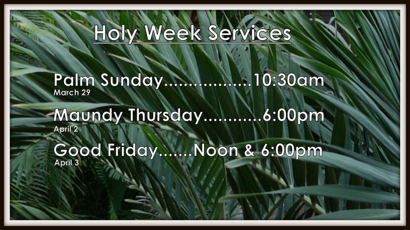 Palm and Holy Week Noon
